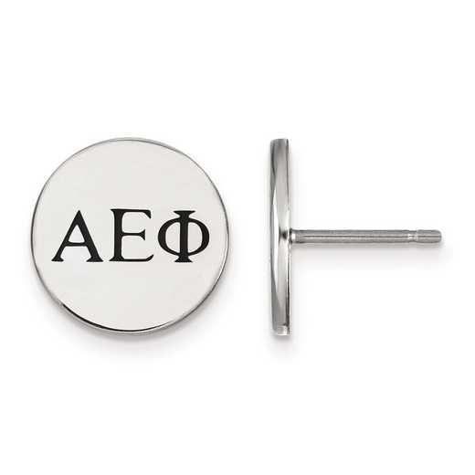 SS033AEP: Strlng Slvr LogoArt Alpha Epsilon Phi Enameled Post Earrings