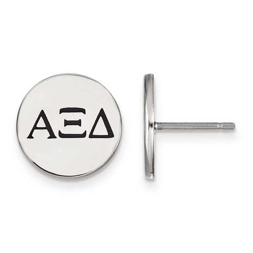 SS033AXD: Strlng Slvr LogoArt Alpha Xi Delta Enameled Post Earrings