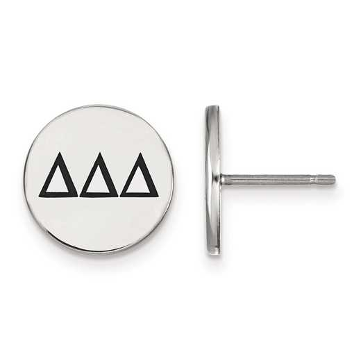 SS033DDD: Strlng Slvr LogoArt Delta Delta Delta Enameled Post Earrings