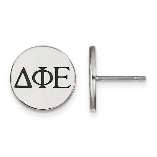 SS033DPH: Strlng Slvr LogoArt Delta Phi Epsilon Enameled Post Earrings
