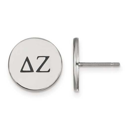 SS033DZ: Strlng Slvr LogoArt Delta Zeta Enameled Post Earrings