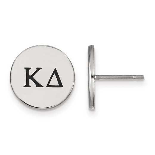 SS033KD: Strlng Slvr LogoArt Kappa Delta Enameled Post Earrings