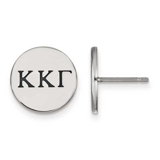 SS033KKG: Strlng Slvr LogoArt Kappa Kappa Gamma Enameled Post Earrings