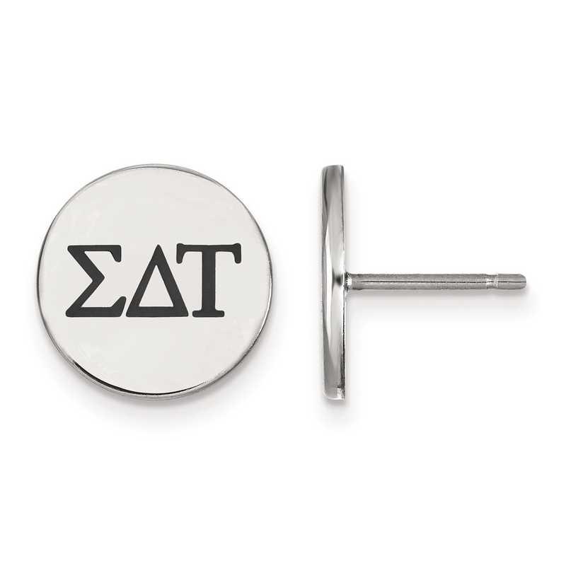 SS033SDT: Strlng Slvr LogoArt Sigma Delta Tau Enameled Post Earrings