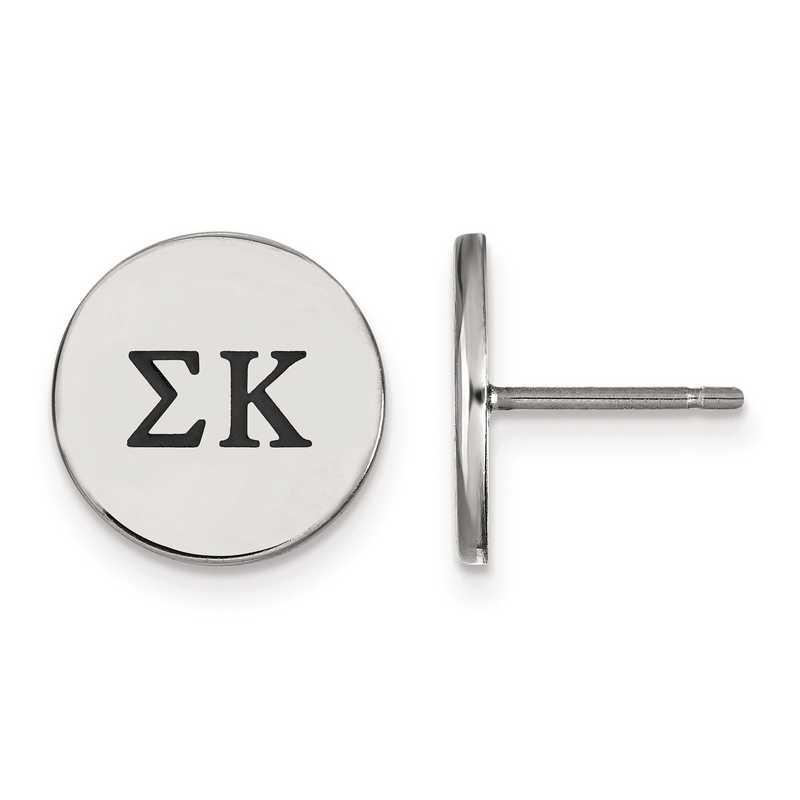SS033SKP: Strlng Slvr LogoArt Sigma Kappa Enameled Post Earrings