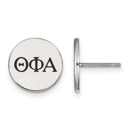 SS033TPA: Strlng Slvr LogoArt Theta Phi Alpha Enameled Post Earrings
