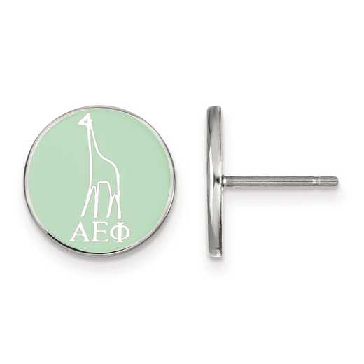 SS046AEP: Strlng Slvr LogoArt Alpha Epsilon Phi Enameled Post Earrings