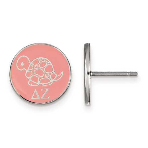 SS046DZ: Strlng Slvr LogoArt Delta Zeta Enameled Post Earrings