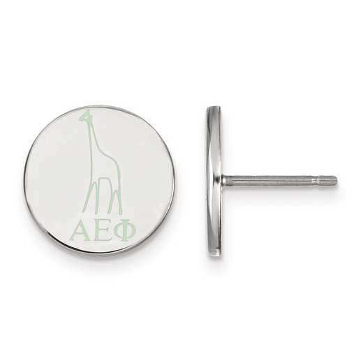 SS047AEP: Strlng Slvr LogoArt Alpha Epsilon Phi Enameled Post Earrings