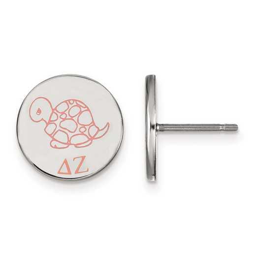 SS047DZ: Strlng Slvr LogoArt Delta Zeta Enameled Post Earrings