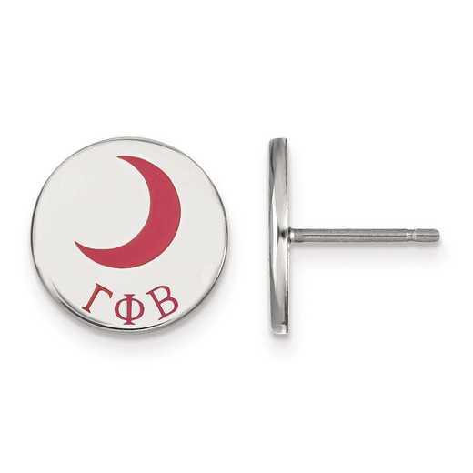 SS047GPB: Strlng Slvr LogoArt Gamma Phi Beta Enameled Post Earrings