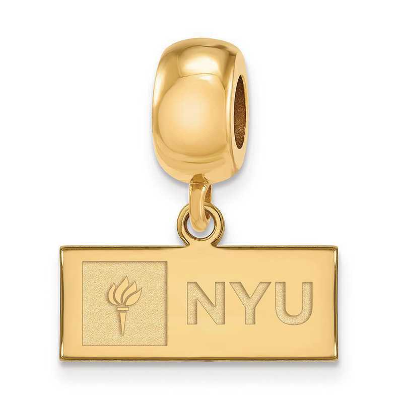 GP001NYU: Gp SS Logo Art New York Univ Reflection Beads Charm Xs