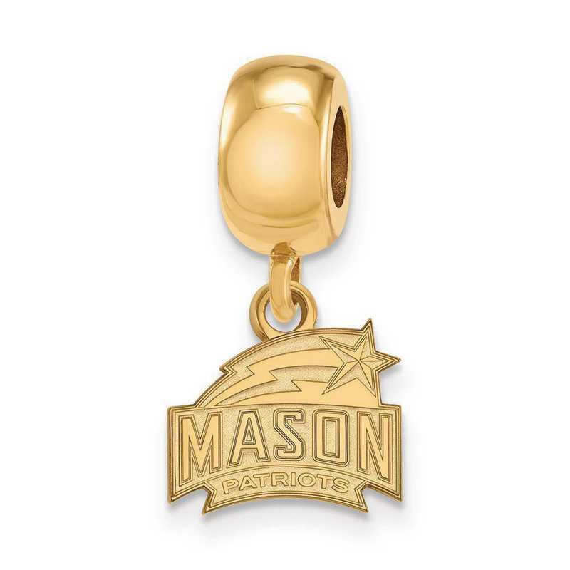 GP007GMU: SS W/GP Logoart George Mason Univ Xs Reflection Beads Charm