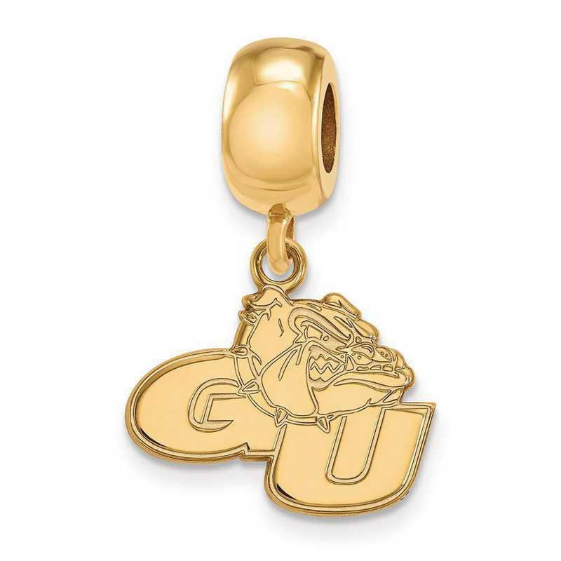GP009GON: SS W/GP Logoart Gonzaga Univ Small Dangle Reflection Beads
