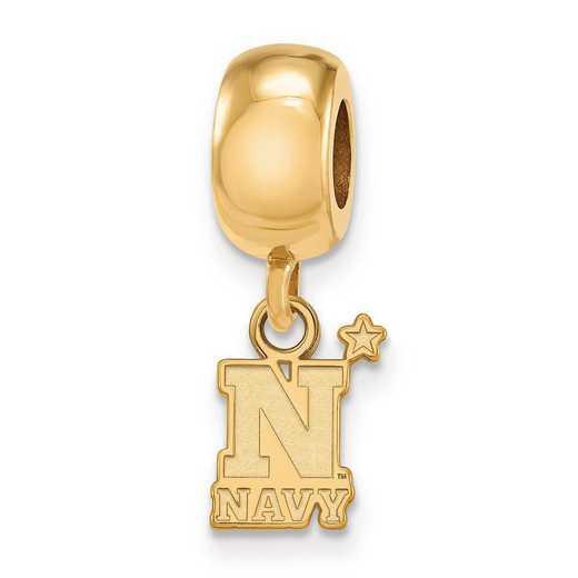 GP009USN: SS W/GP Logoart Navy Xs Dangle Reflection Beads Charm