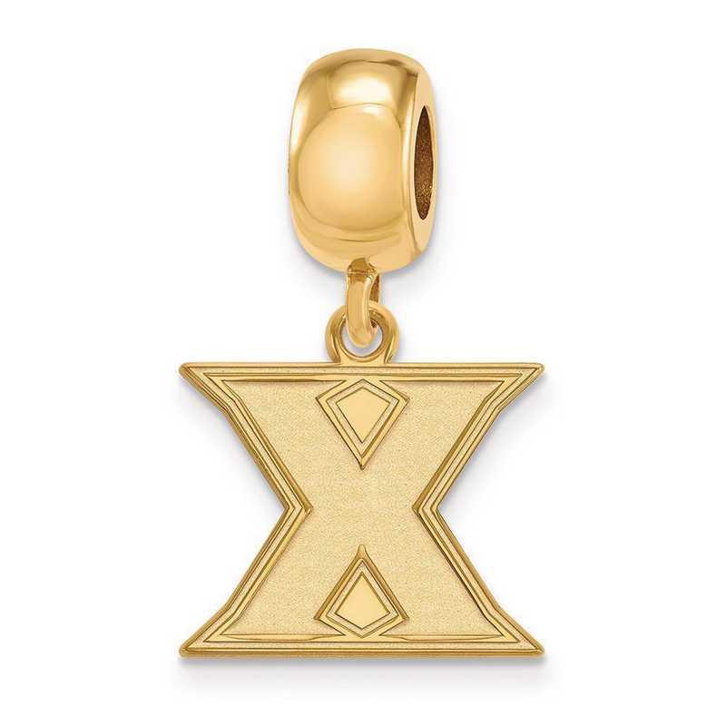 GP010XU: SS W/GP Logoart Xavier Univ Small Dangle Reflection Beads