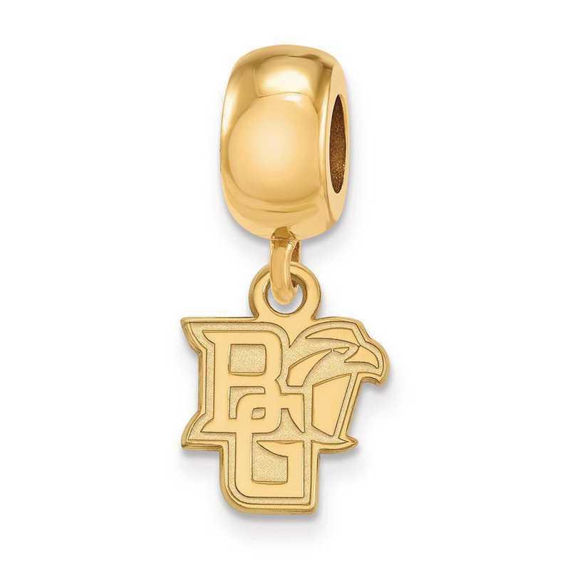 GP013BG: SS/GP Logoart Bowling Green St. U Xs Reflection Beads Charm