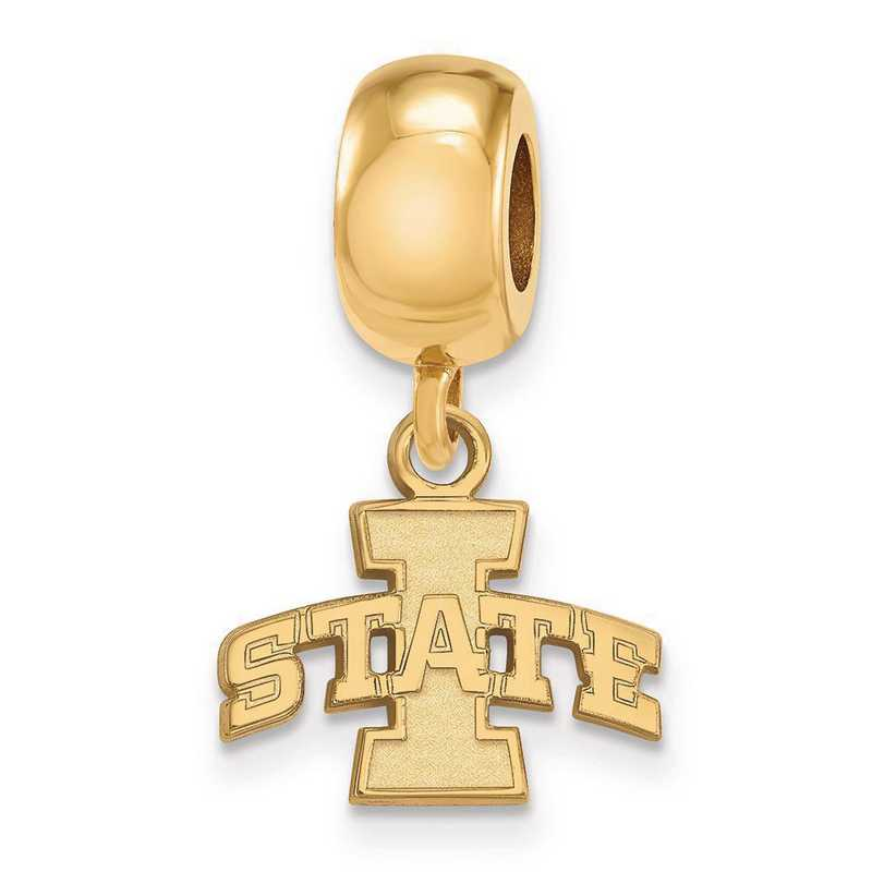 GP013IAS: SS W/GP Logoart Iowa State Univ Xs Reflection Beads Charm