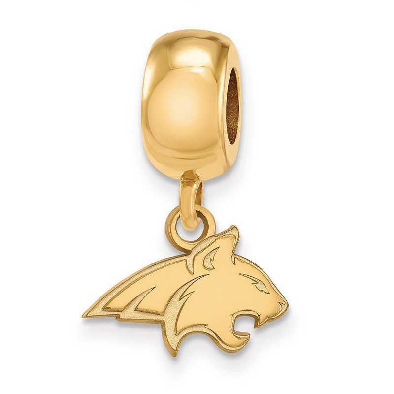 GP013MTU: SS W/GP Logoart Montana State Univ Xs Reflection Beads Charm