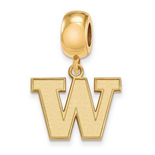 GP013UWA: SS W/GP Logoart Univ Of Washington Small Reflection Beads