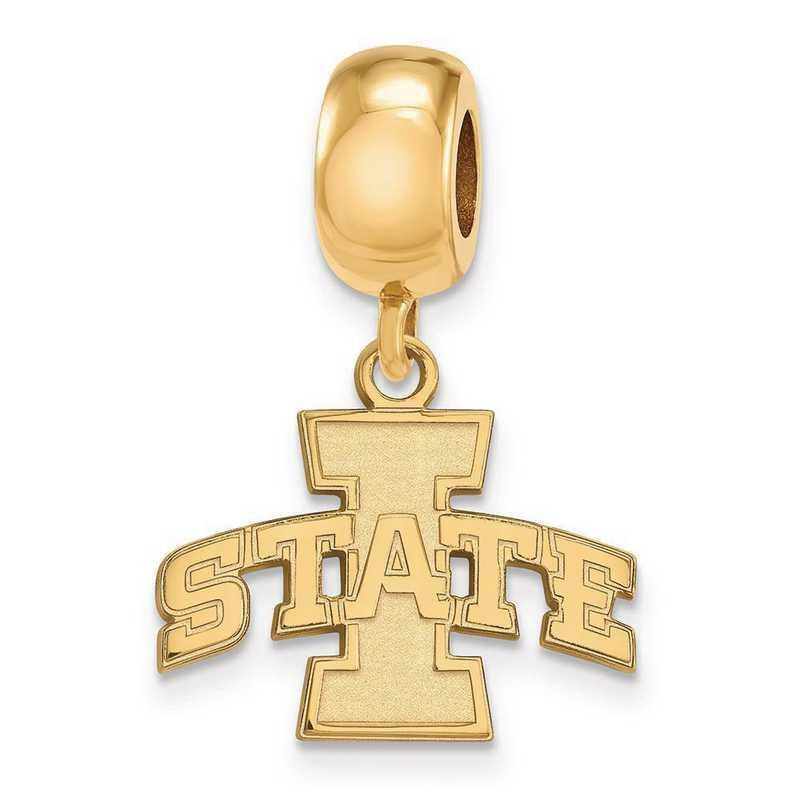 GP014IAS: SS W/GP Logoart Iowa State Univ Small Reflection Beads