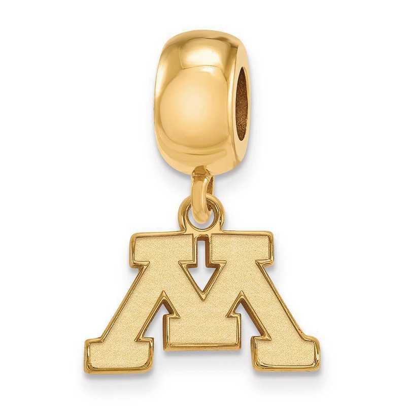 GP014UMN: SS W/GP Logoart Univ Of Minnesota Xs Reflection Beads Charm