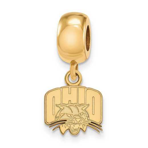 GP018OU: SS W/GP Logoart Ohio Univ Xs Dangle Reflection Beads Charm