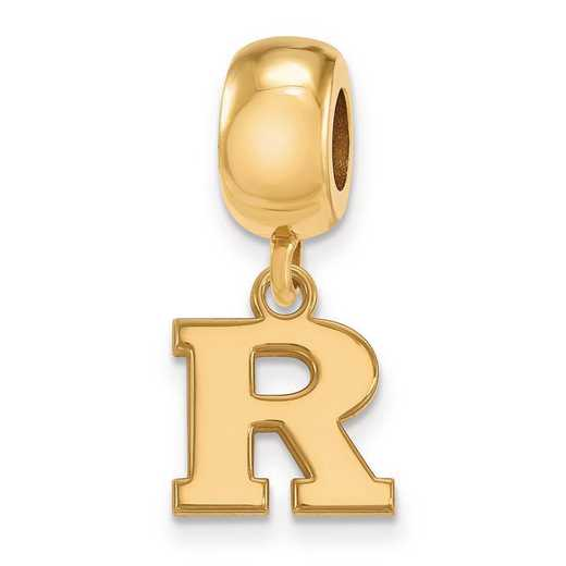 GP018RUT: SS W/GP Logoart Rutgers Xs Dangle Reflection Beads Charm