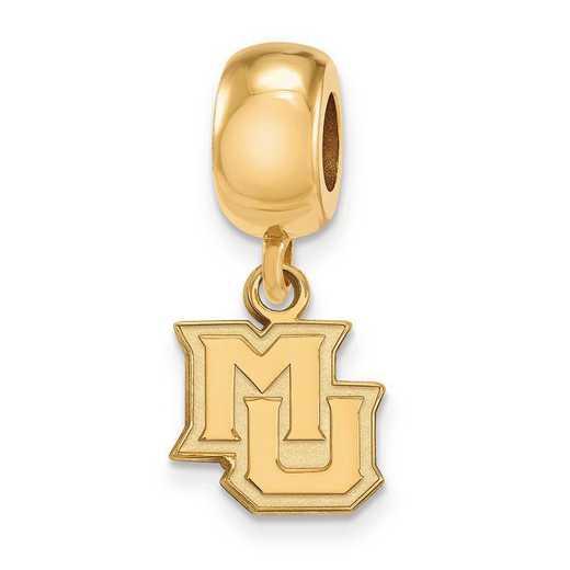 GP019MAR: SS W/GP Logoart Marquette Univ Xs Reflection Beads Charm