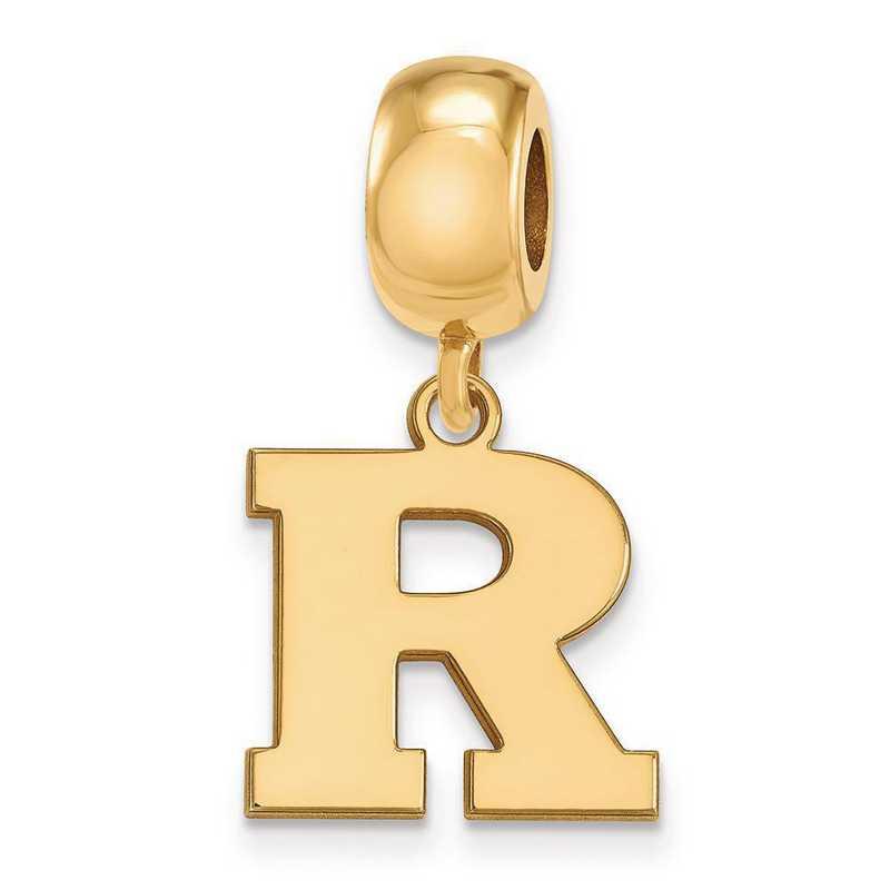 GP019RUT: SS W/GP Logoart Rutgers Small Dangle Reflection Beads