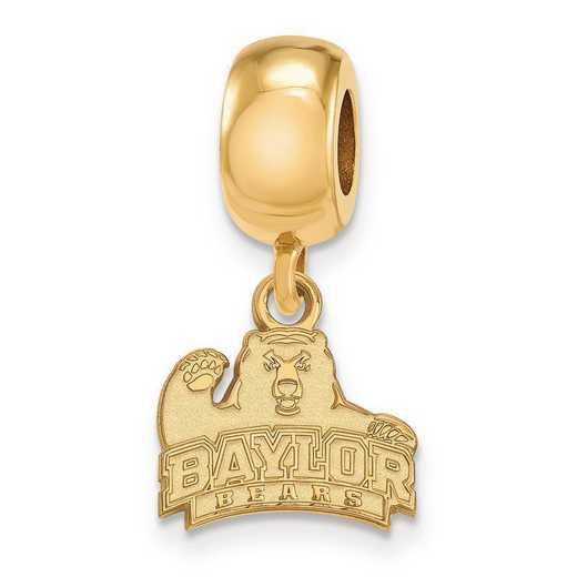 GP020BU: SS W/GP Logoart Baylor Univ Xs Dangle Reflection Beads Charm