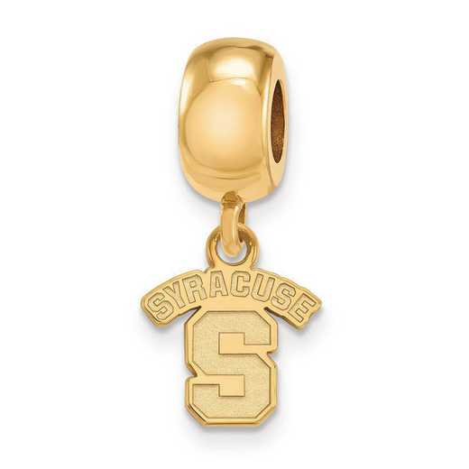GP020SYU: SS W/GP Logoart Syracuse Univ Xs Reflection Beads Charm