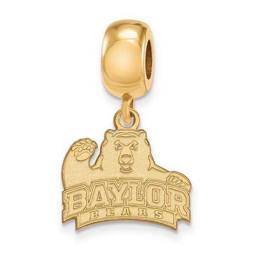 GP021BU: SS W/GP Logoart Baylor Univ Small Dangle Reflection Beads