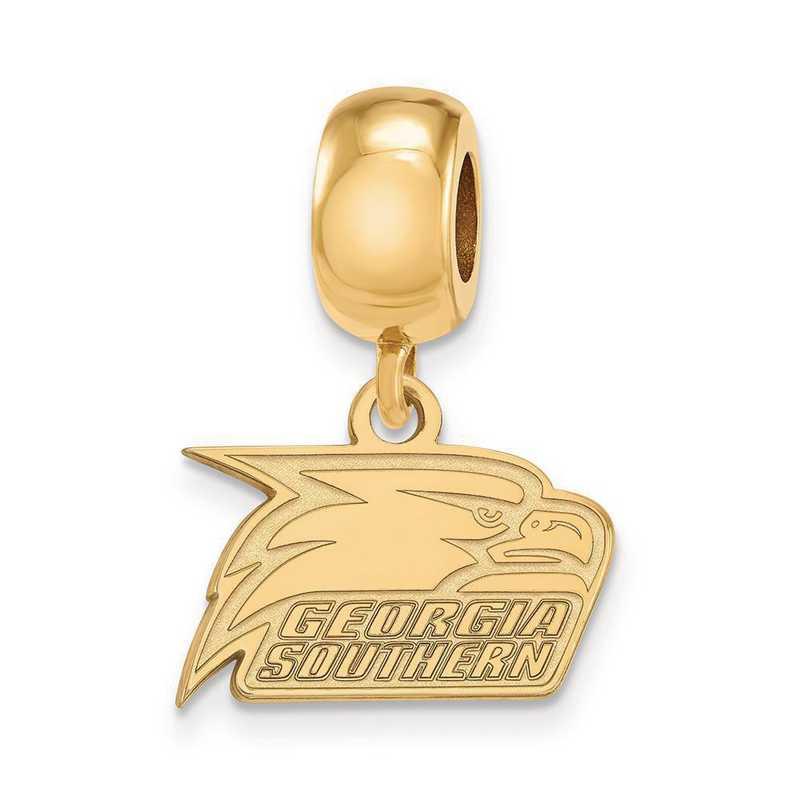 GP022GSU: SS W/GP Logoart Georgia Southern U Xs Reflection Beads Charm