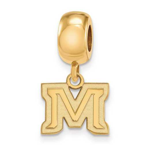 GP023MTU: SS W/GP Logoart Montana State Univ Xs Reflection Beads Charm