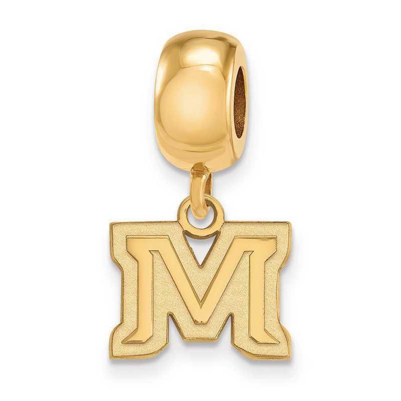 GP023MTU: SS W/GP Logoart Montana State Univ Xs Reflection Beads Charm