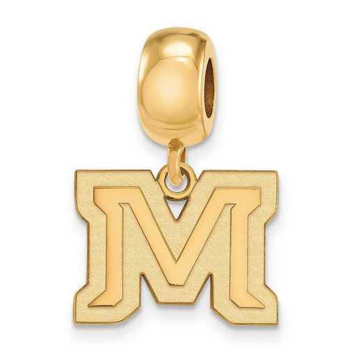 GP024MTU: SS W/GP Logoart Montana State Univ Small Reflection Beads