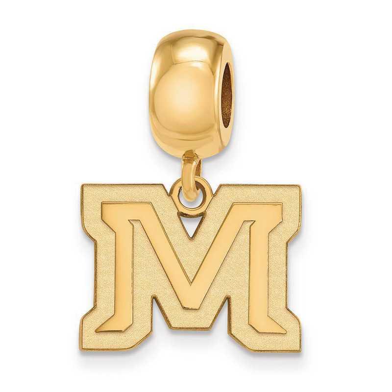 GP024MTU: SS W/GP Logoart Montana State Univ Small Reflection Beads