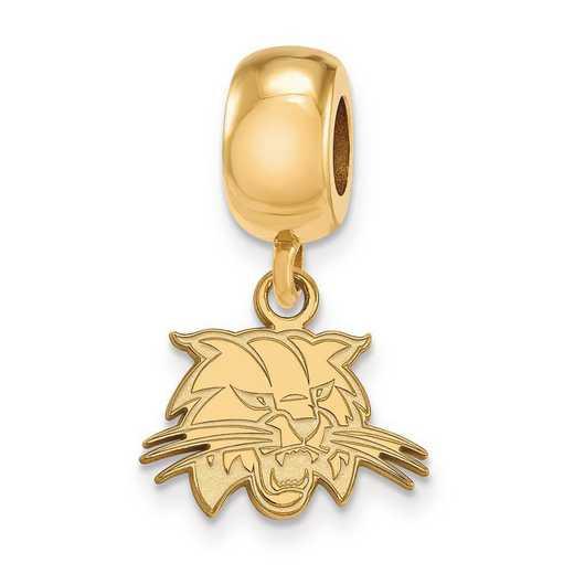 GP024OU: SS W/GP Logoart Ohio Univ Xs Dangle Reflection Beads Charm