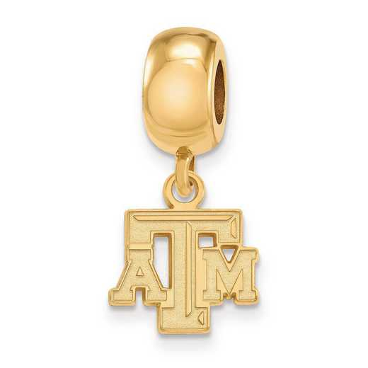 GP029TAM: SS W/GP Logoart Texas A&M Univ Xs Reflection Beads Charm