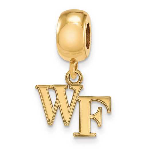 GP029WFU: SS W/GP Logoart Wake Forest Univ Xs Reflection Beads Charm