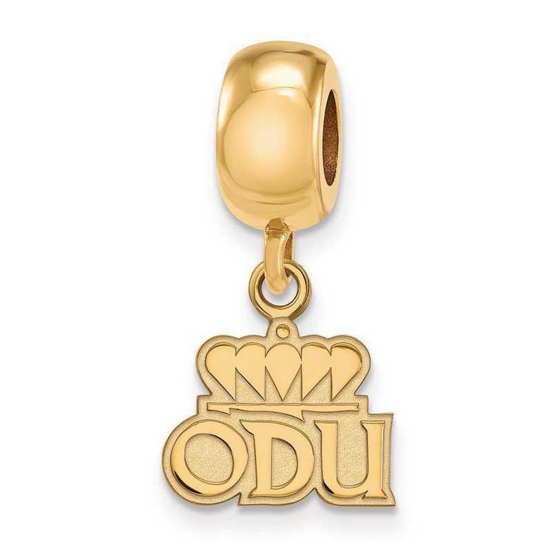GP030ODU: SS Gp Logo Art Old Dominion Univ Xs Reflection Beads Charm