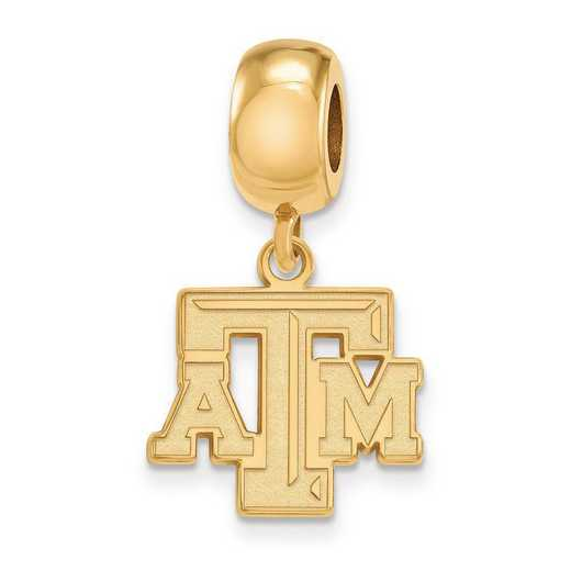GP030TAM: SS W/GP Logoart Texas A&M Univ Small Dangle Reflection Beads