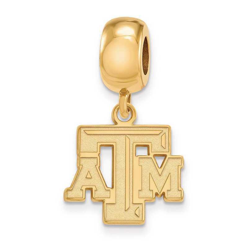 GP030TAM: SS W/GP Logoart Texas A&M Univ Small Dangle Reflection Beads