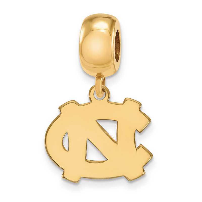 GP031UNC: SS W/GP Logoart U Of North Carolina Small Reflection Beads