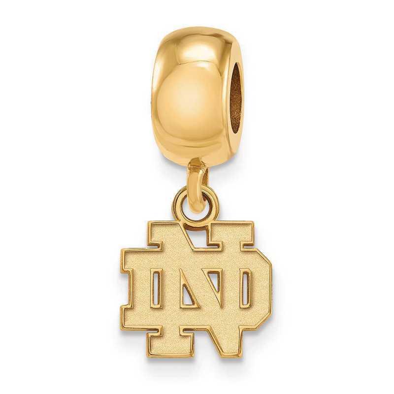 GP033UND: SS Gp Logoart U Of Notre Dame Dangl Charm Reflection Beads