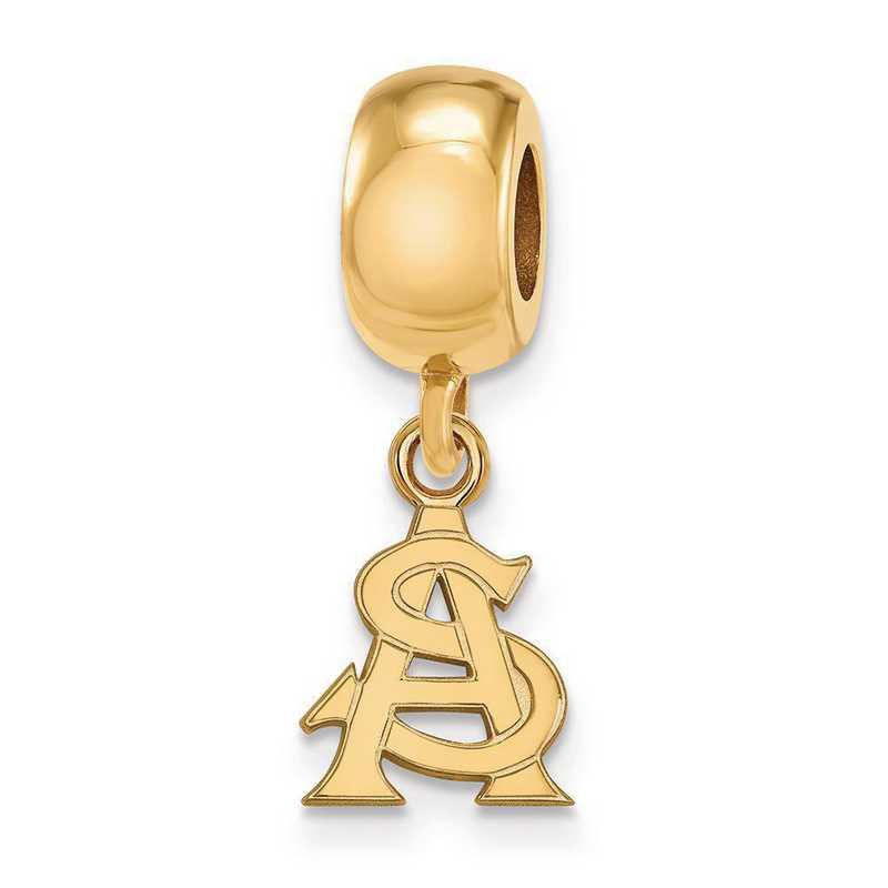 GP034AZS: SS/GP Logoart Arizona St. U Xs Dngle Reflection Beads Charm
