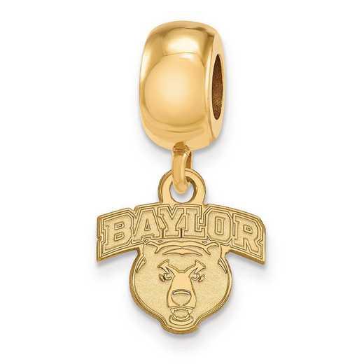 GP034BU: SS W/GP Logoart Baylor Univ Xs Dangle Reflection Beads Charm