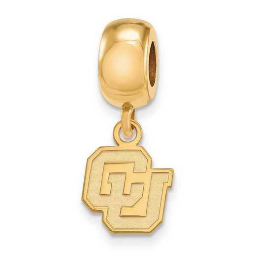 GP034UCO: SS W/GP Logoart Univ Of Colorado Xs Reflection Beads Charm