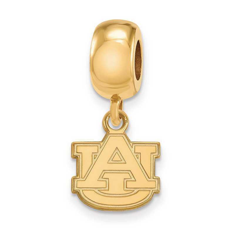 GP035AU: SS W/GP Logoart Auburn Univ Xs Dangle Reflection Beads Charm